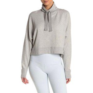 Free People Lara Drawstring Pullover Grey NWT L